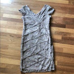 Taupe knee length dress